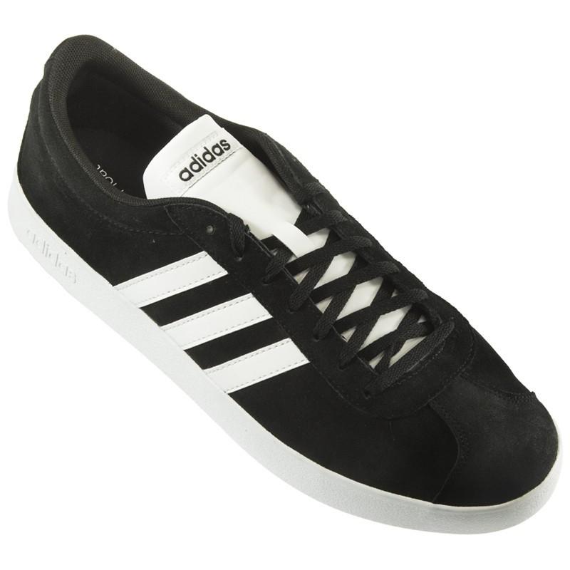 Adidas - VL Court 2.0 Negro Blanco